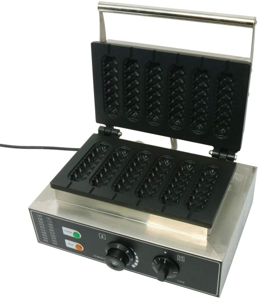 HYDDNice Commercial Waffle Maker with Six Grid