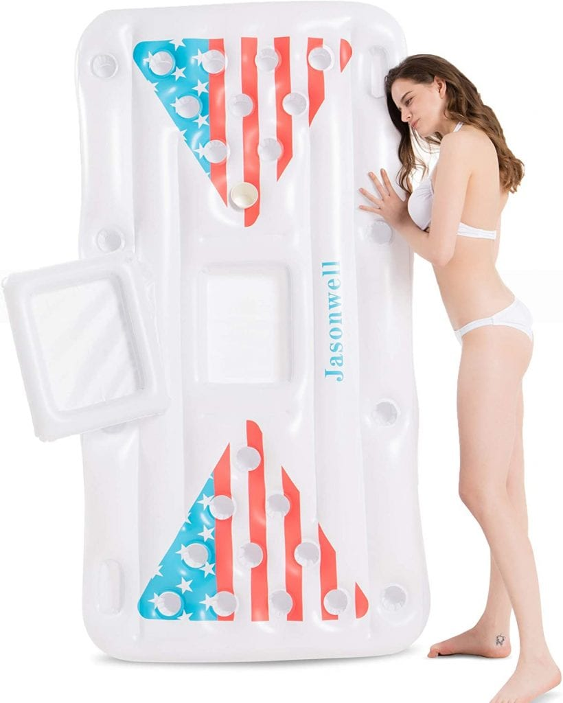 Jasonwell Inflatable Floating Beer Pong For Pool Party