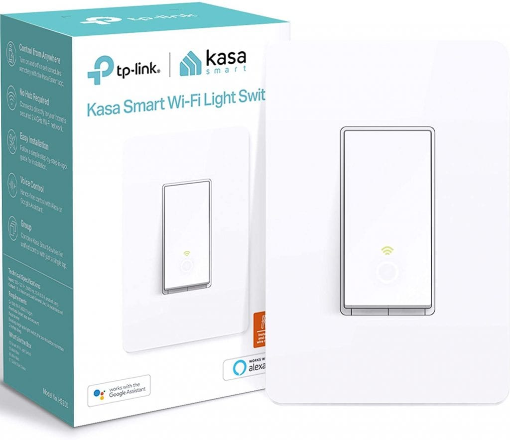Kasa Smart TP-Link White Alexa & Google Assistance Remote Controlling Switch