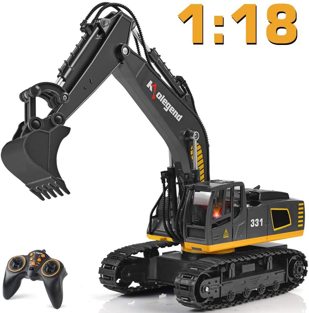 Kolegend Remote Control Excavator Toy Truck