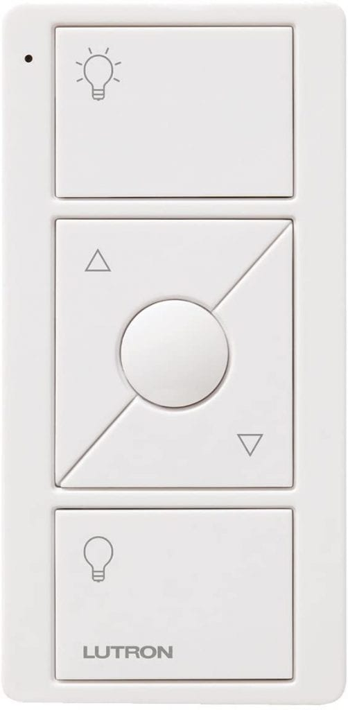 Lutron White Smart Wireless Dim Light Switch With Wall Remote