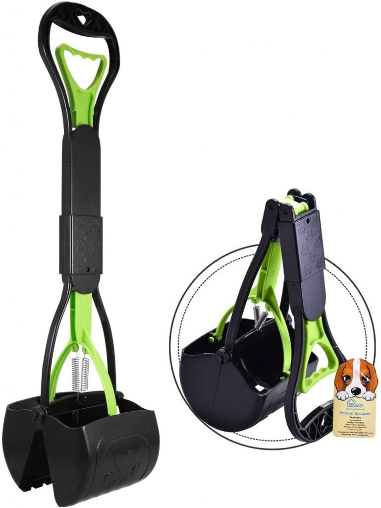 PPOGOO Material Durable High Handle No Breakage Waste Picking Scooper For Pets
