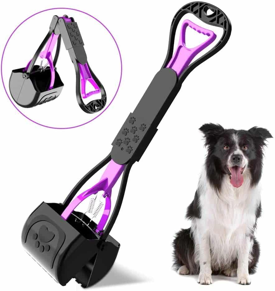 Pupgang Outdoor Indoor Folding Handle Long Pet Pooper Scooper