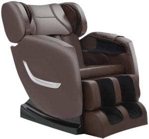 SmartMassageChairs Brown Foot Rolling Office & Home Massage Chairs