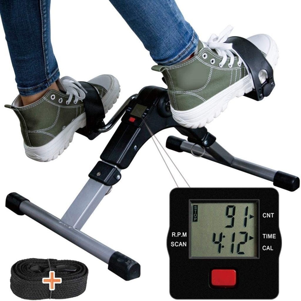 TABEKE Pedal Exerciser with LCD Display