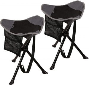 Visit The RedCamp Store Folding Grey & Black Lightweight Stool For Sitting