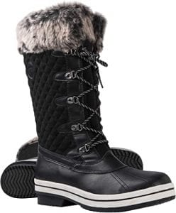 ArcticShield Winter Boots for Women Warm & Durable with Fur Coat