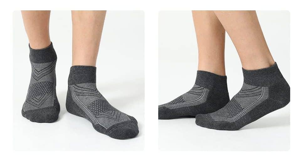 CelerSport 6 Pack Men's Cushion Ankle Socks