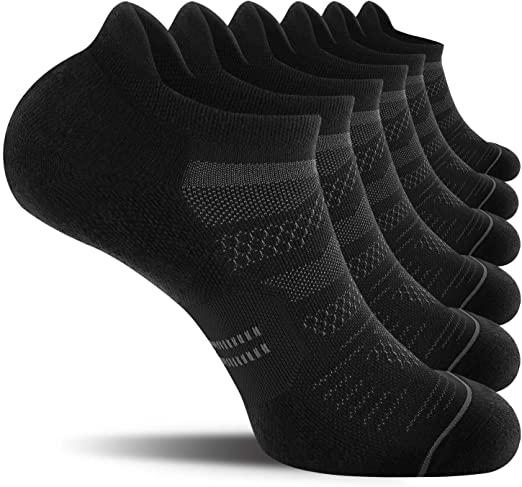 CelerSport 6 Pack Men's Running Ankle Socks