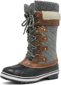 DREAM PAIRS Women's Winter Boots  Durable Mid Calf
