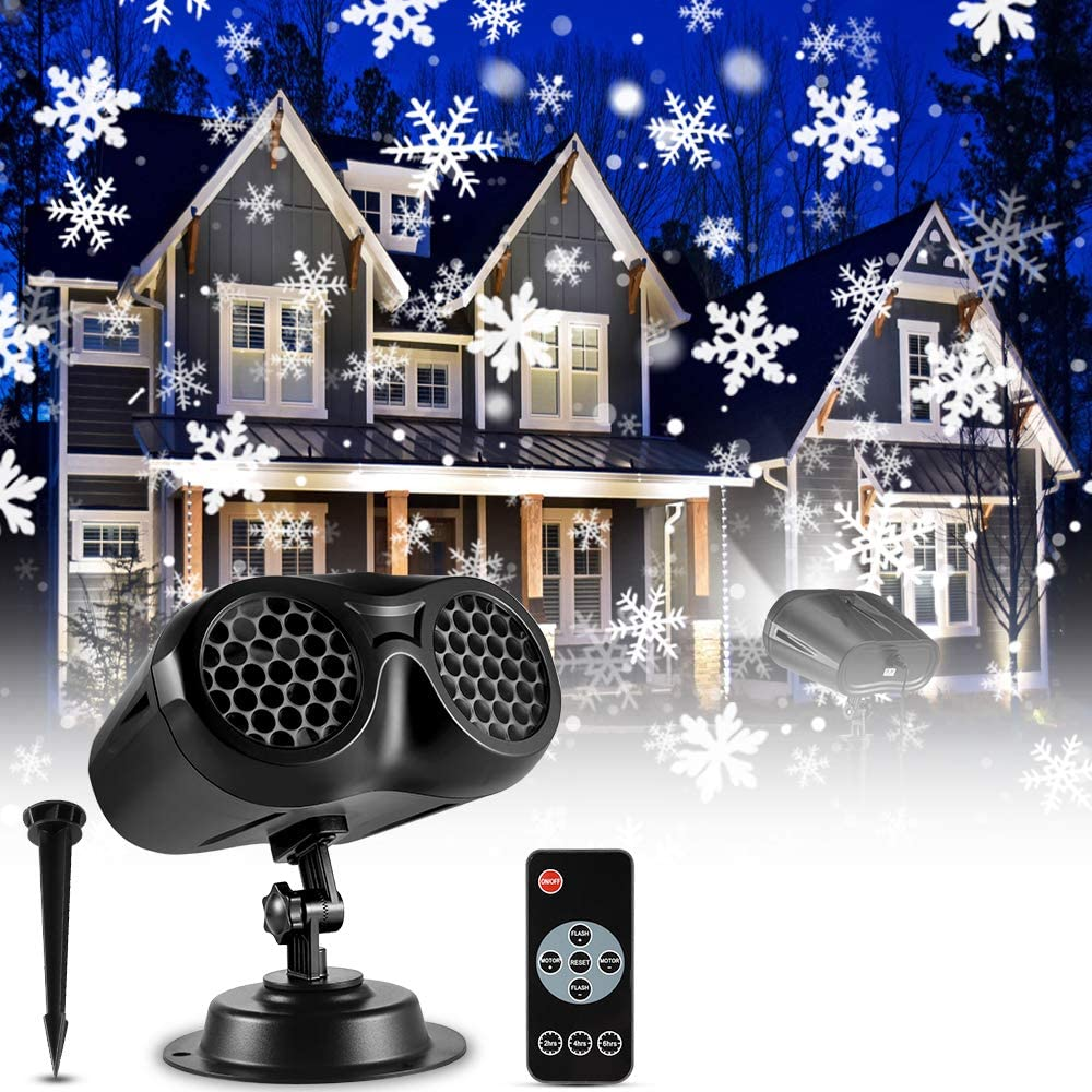 Ecowho Outdoor Christmas Led Snowfall-Waterproof Remote Controlling Projector