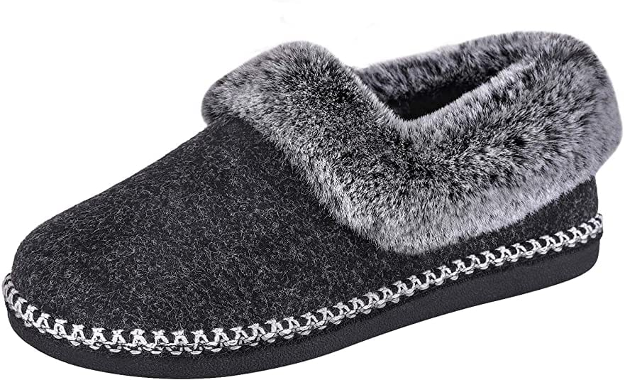 EverFoams Women's Handmade Luxury Wool Slippers