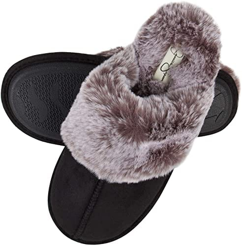 Jessica Simpson Comfy Faux Fur Women's House Slippers
