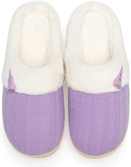 NineCiFun Slip-on Women's Memory Foam House Slippers