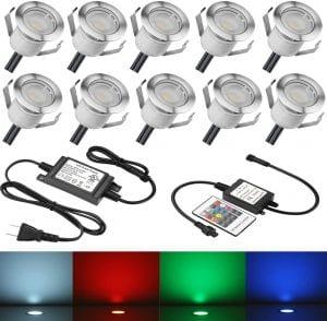 SUMAOTE LED RGB Recessed Deck Lights