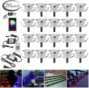 SUMAOTE WiFi Control Recessed RGB Deck Lights