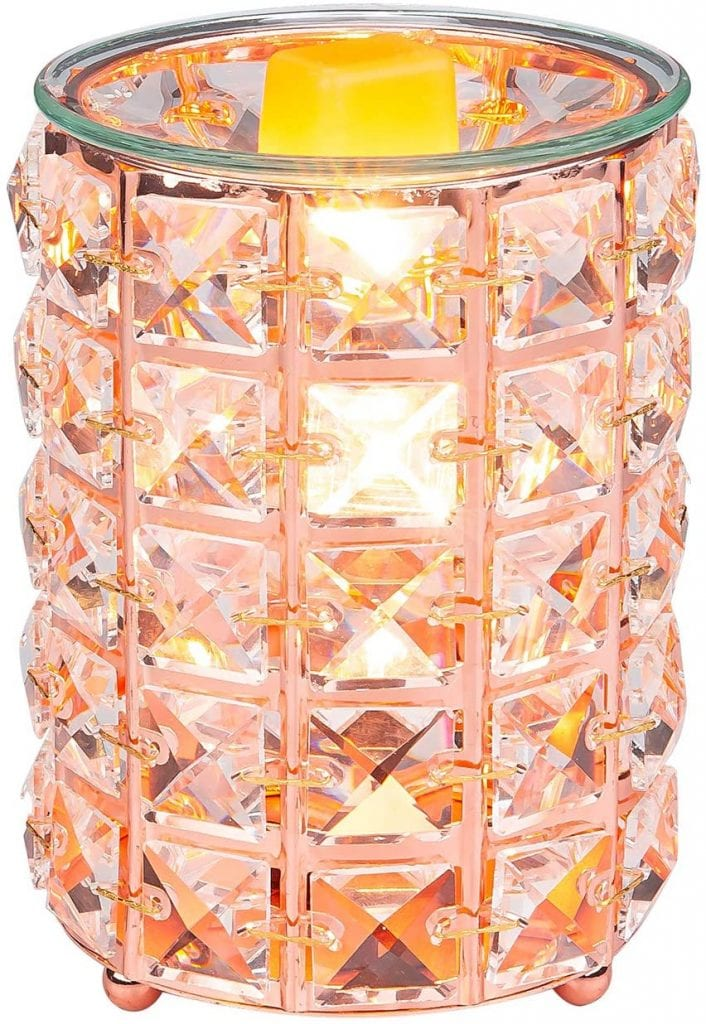 SUNPIN Rose Gold Fragrance Electric Crystal Home office Oil Candle Warmer