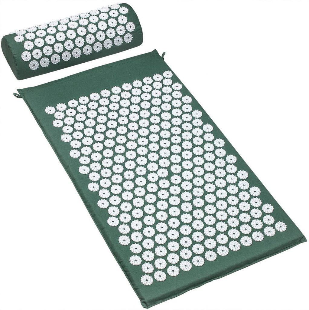 Sivan Back and Neck Pain Relief Acupressure Mat and Pillow Set