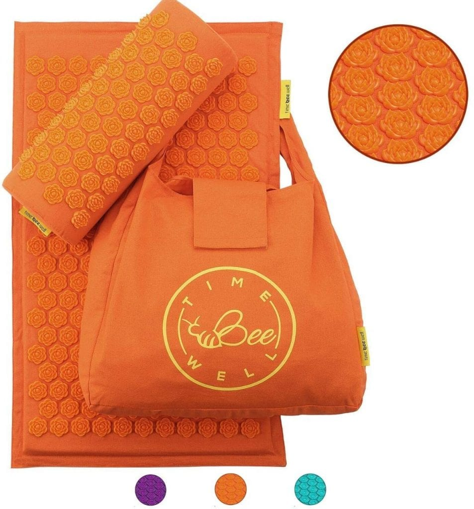 TimeBeeWell Eco-Friendly Acupressure Mat and Pillow Set