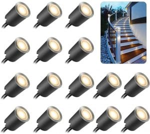 TomShine Recessed LED Deck Lights with Protecting Shell