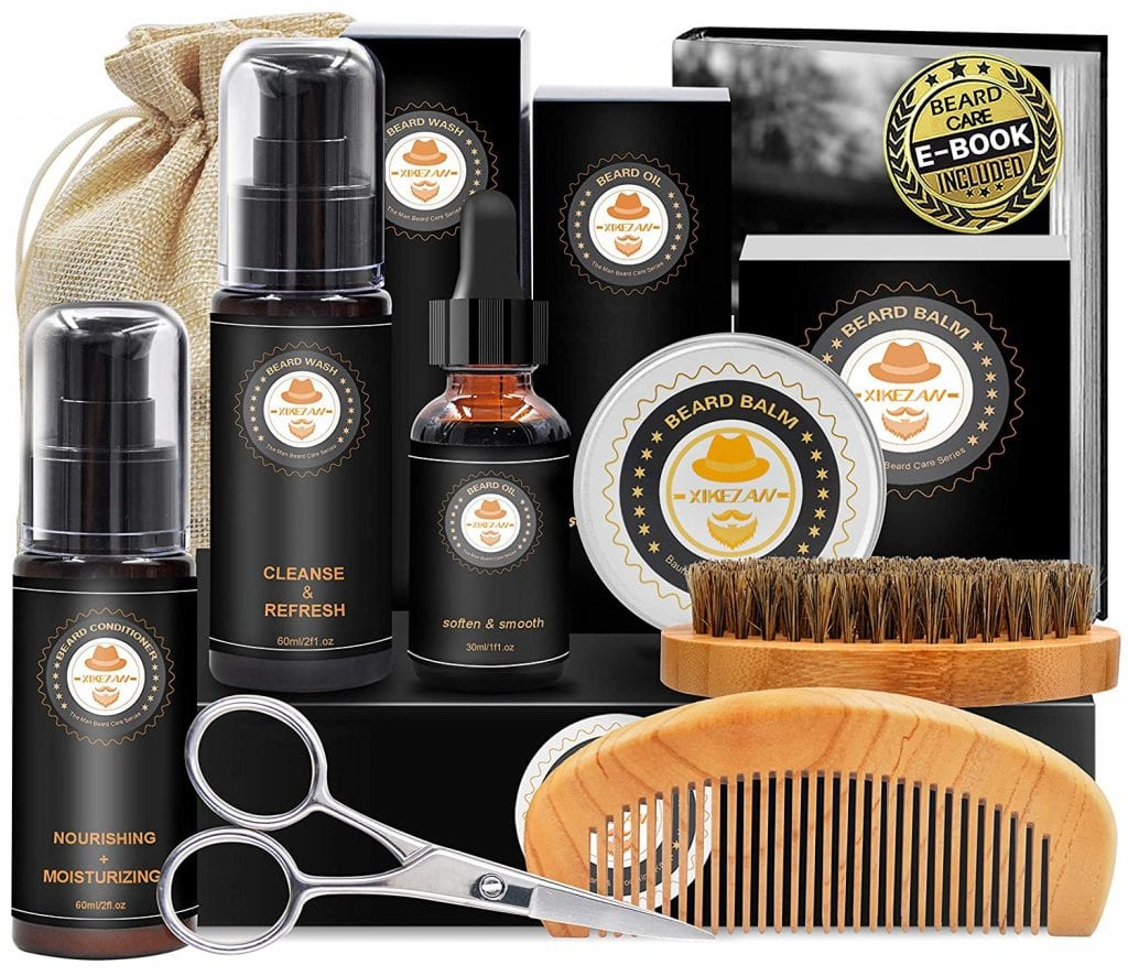 All in one beard cosmetic and grooming set