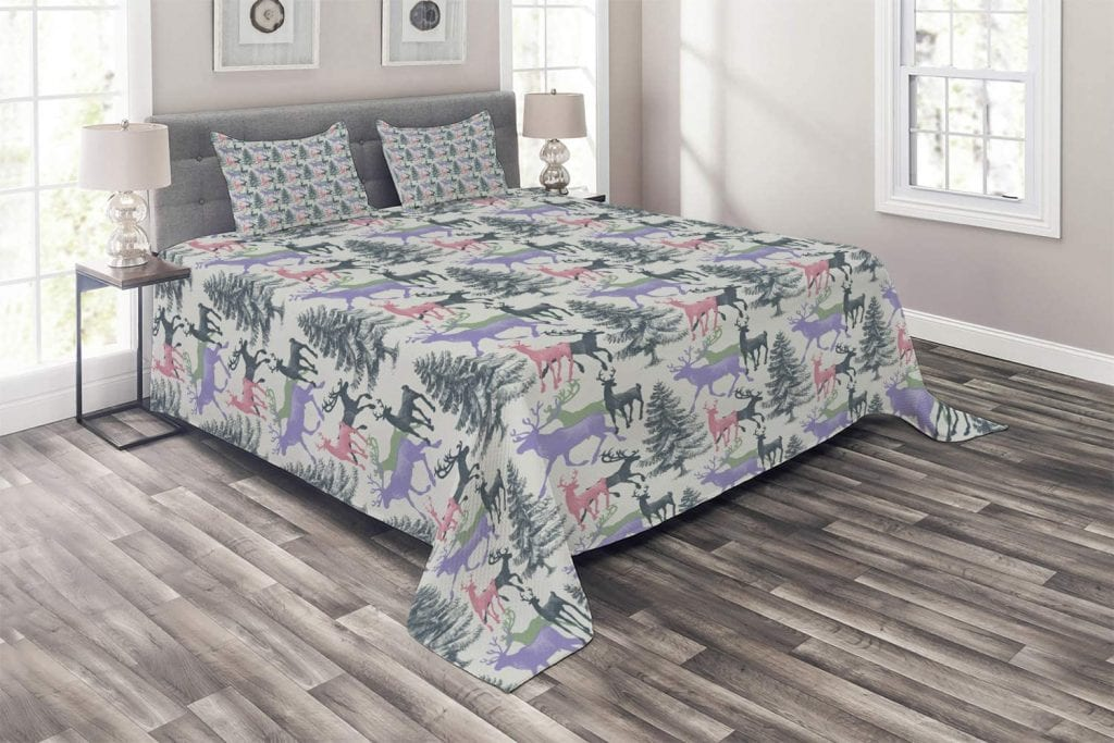 Ambesonne Quilted Bedspread Set
