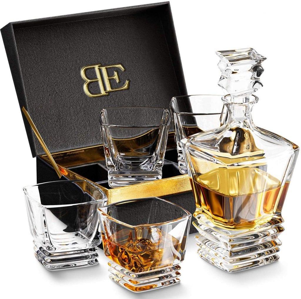 Bootleg Genuine 4 Tumbler Lead-Free Highball Whiskey Glass Set