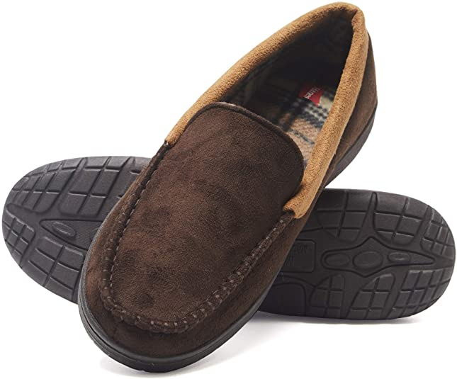 Comfortable Moccasin Slippers as a Christmas Gift Idea for Dad