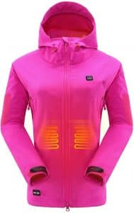 DEWBU Heated Jacket in Rose Red and more colors