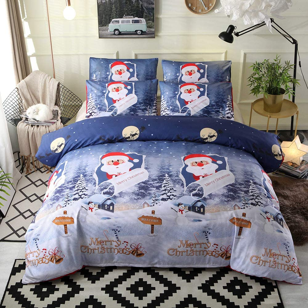 Decdeal Luxury Christmas Bedding Sets