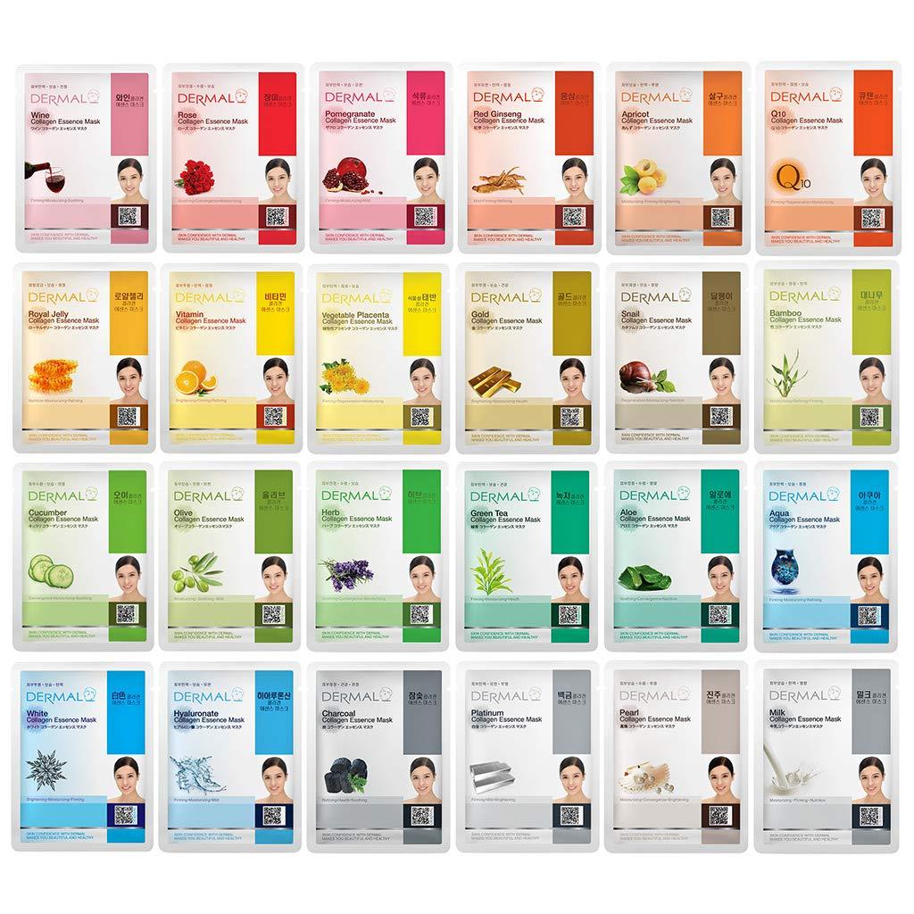 Dermal All Skin Type Fresh Korean Cleansing Natural Collagen Face Sheet