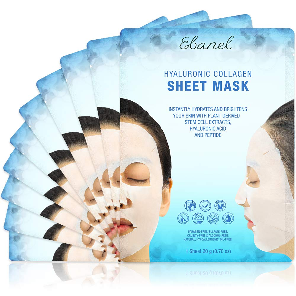 Ebanel Vitamin E & C Hydrating Anti-aging Brightening Instantly Collagen Face Mask