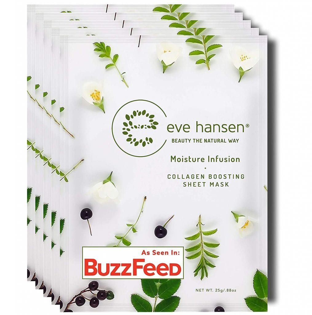 Eve Hansen 5X Wrinkle Removing Cruelty-Free Hydrating Natural Face Masks