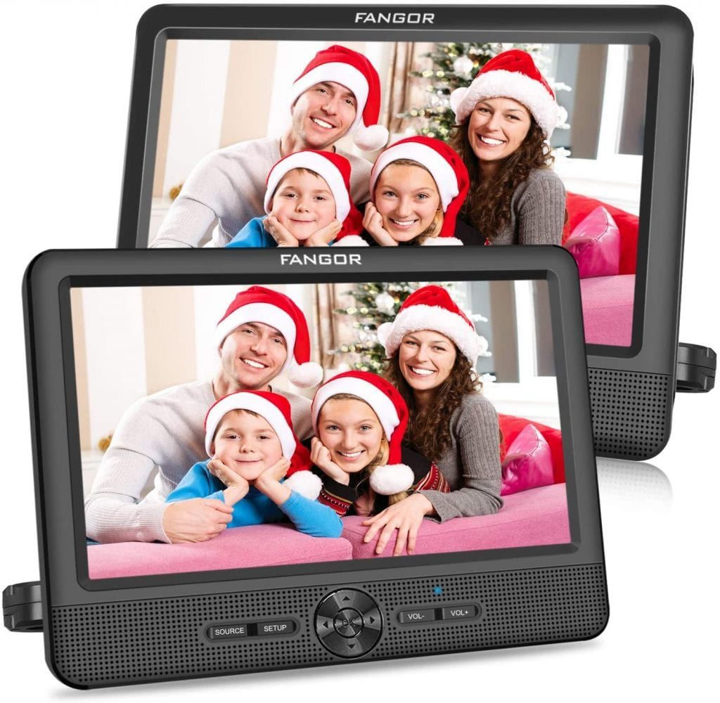 FANGOR 10'' Video Player Set with HD Screen and two Monitors