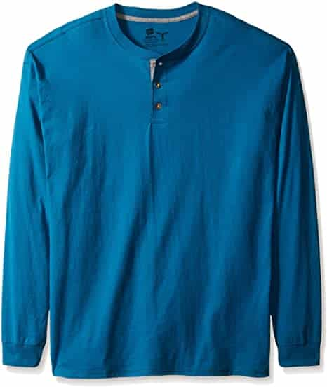 Hanes Long Sleeve Shirt with Buttons