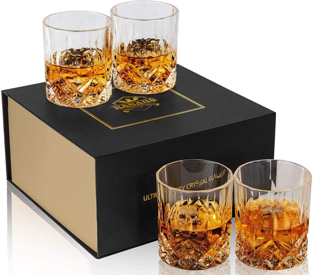 Kanars Luxury Liquor Cocktails Rock Drink Glass Set (4)