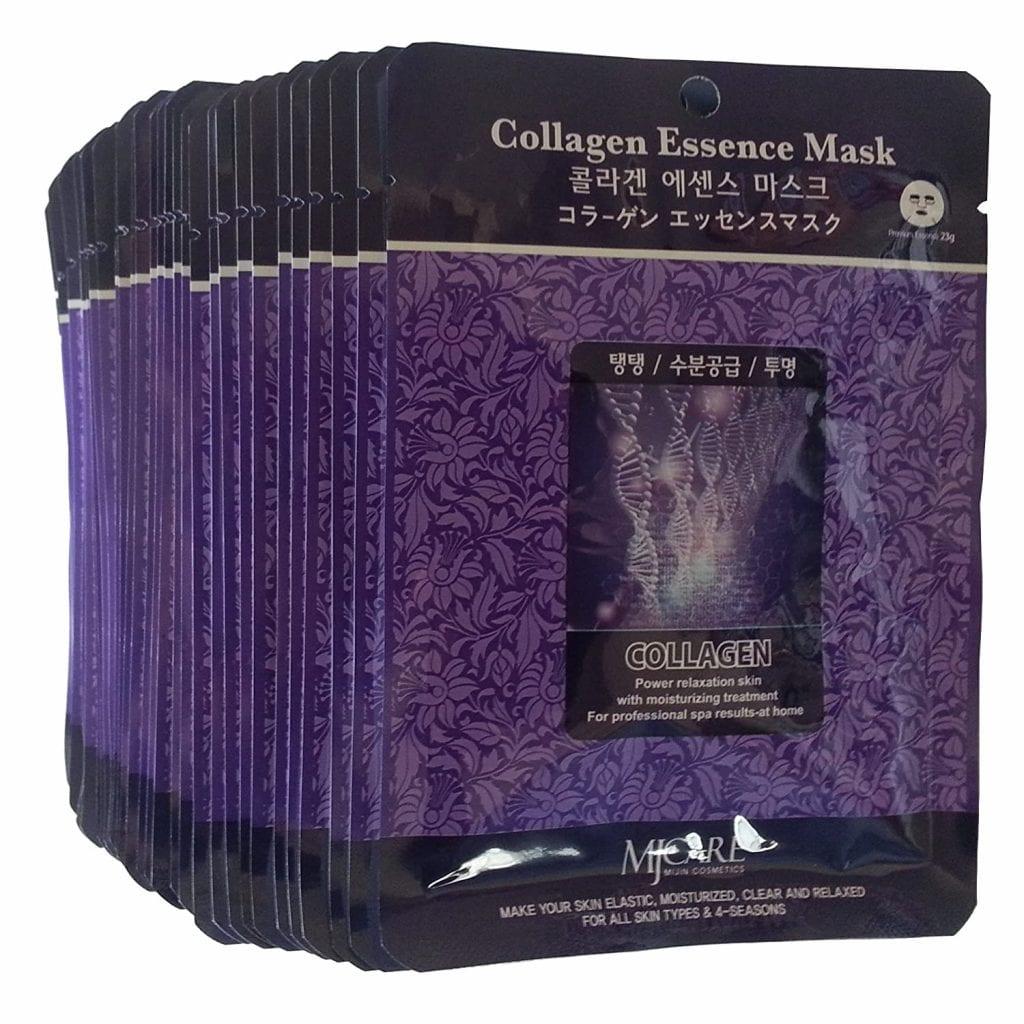 MJ Care Collagen Essence Moisturizing Relaxing Elastic 30Pcs Skin Mask