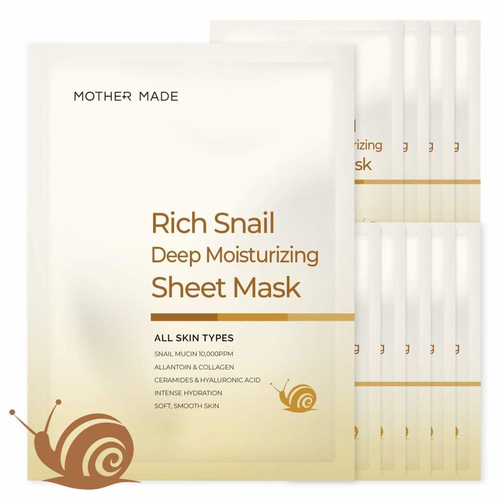 MOTHERMADE 10 Mask Set Deep Cleansing Anti Aging Marine Clean Skin Collagen Face Mask