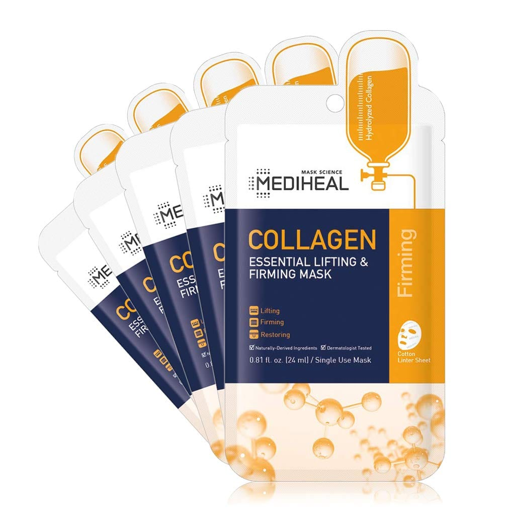 Mediheal Lifting Firm Face Korean Essential Collagen Mask