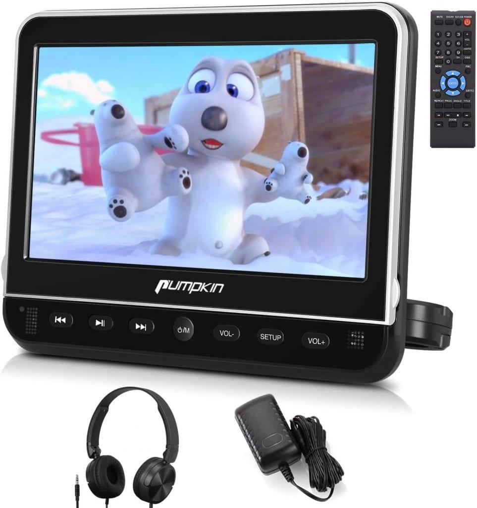 PUMPKIN Headrest Car DVD Player with Free Headphone