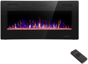 R.W.FLAME Insert or Wall Mounted Electric Fireplace