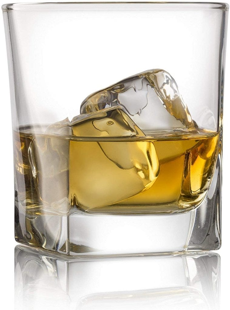 Red Rocks Double Scotch Cocktail Base Heavy Old Style 4 Set Whiskey Glass