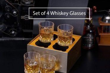 Set of 4 Whiskey Glasses