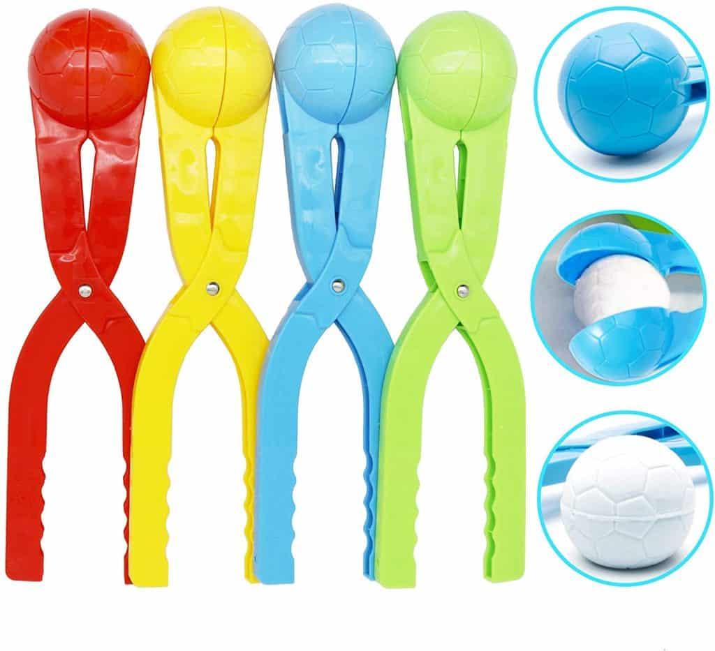 SupMLC Kids Snowball Toys Outdoor Winter Kit (4 Pack)