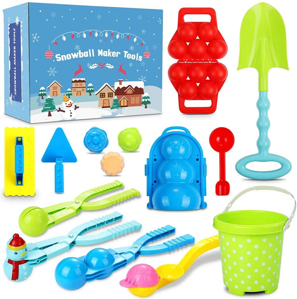 Tomser Snowball Game Toy Set 15 Pcs Moulding Large Size For Kids