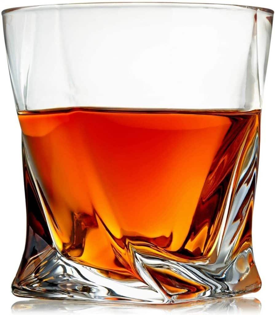Venero London Cocktail Gift 4 Set Whiskey Crystal Old Look Glass Set