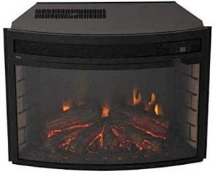 Verve 501625 Curved Electric Fireplace Insert