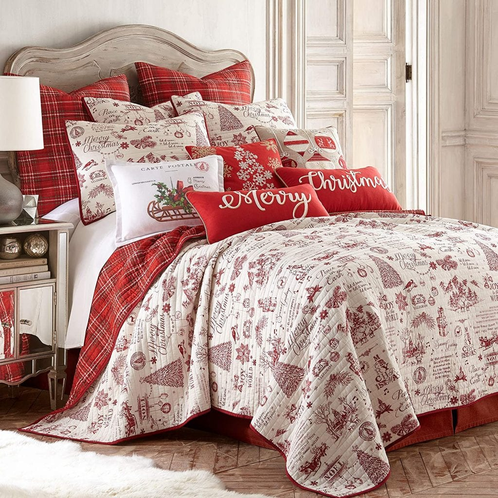 Yuletide Decorative Pillow And Quilt Set